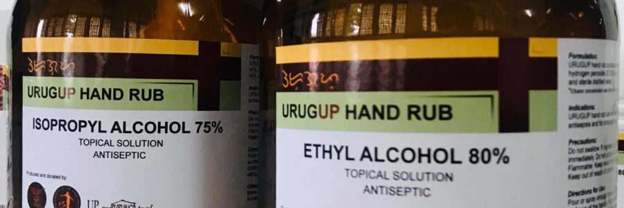 UP Tacloban Produces Alcohol-based Hand Rubs for Frontliners