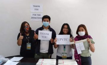UPVTC Puso gives out Face Shields and Food Packs to Frontliners