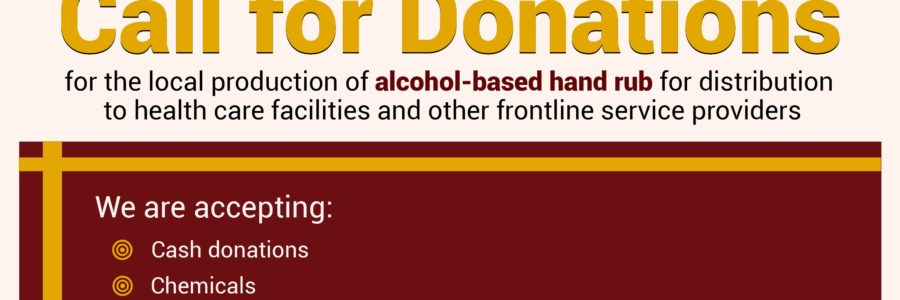 Call for Donation for the URUGUP Alcohol-based Hand Rub